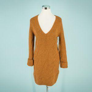 Something Navy S Rust V Neck Sweater Dress NWT